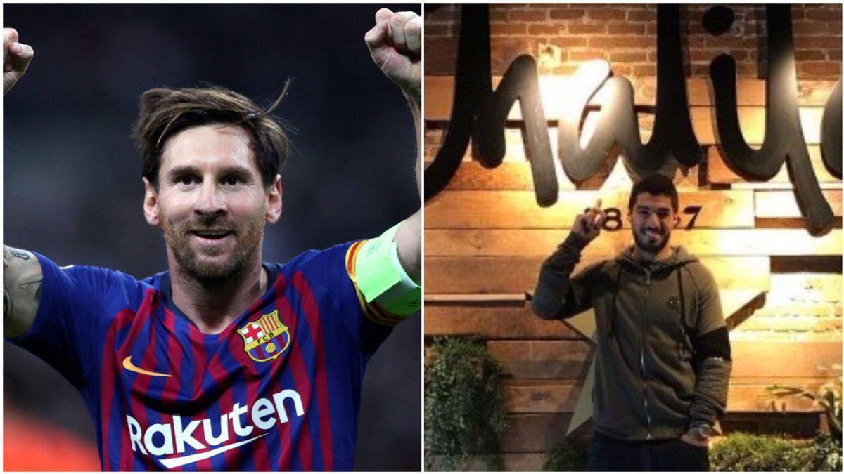 Messi 'se olvida' de su amistad con Luis Suárez y le hace la competencia poniendo un bar a 100 metros del de su amigo