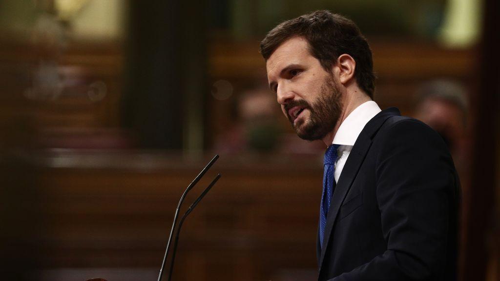 Pablo Casado, en el Congreso