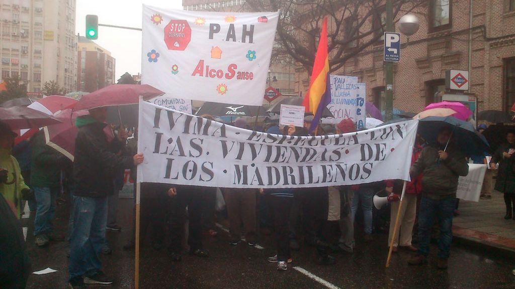 Protestas contra la venta de viviendas del IVIMA en 2014