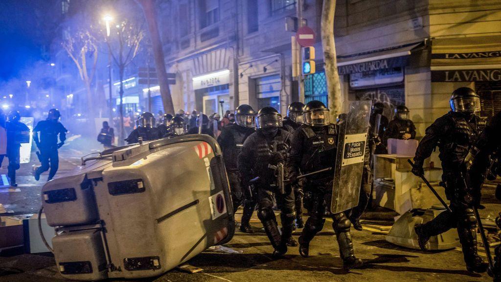 Imagen de los disturbios en Barcelona en apoyo a Hasél