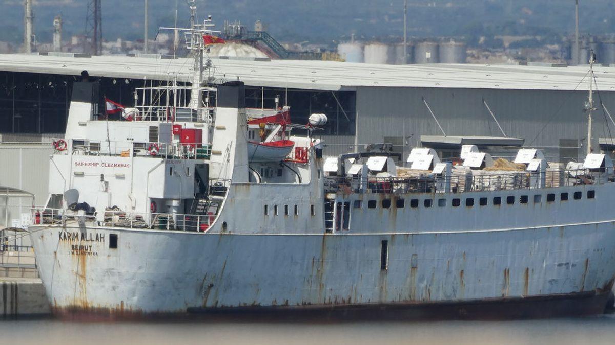 [NO PUBLICAR]Regresa un barco a Cartagena con 900 animales tras ser rechazado en Turquía por un brote de lengua azul