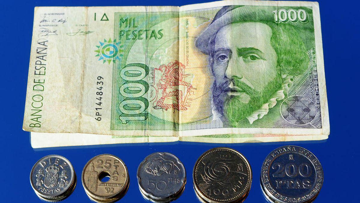 Los españoles se aferran a sus pesetas: apenas se han desecho de 10 millones desde septiembre