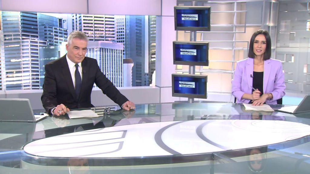Con David Cantero y Alba Lago Informativos Telecinco 2021 Mediodía 25/02/2021