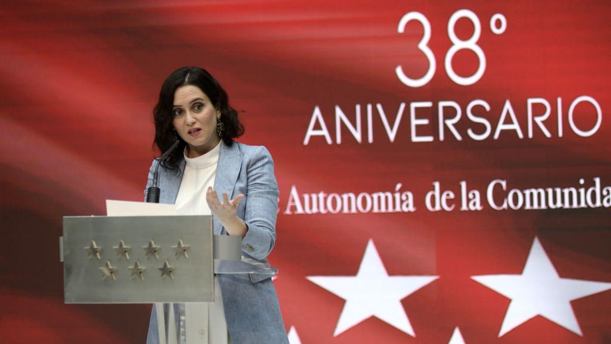 """Díaz Ayuso: """"El pasado 8M se convirtió en el día de la mujer contagiada"""""""