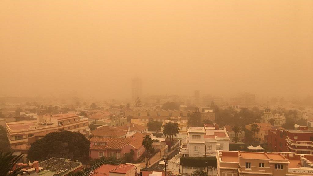 Una enorme masa de polvo sahariano invadirá España en el comienzo de marzo 2021
