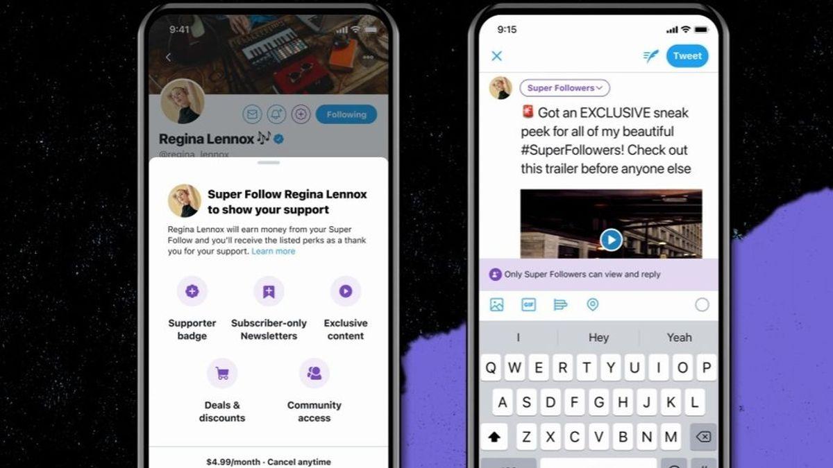Twitter anuncia los Super Follows, suscripciones de pago para acceder a tuits exclusivos