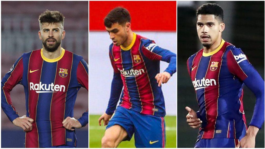 El Barça no gana para sustos: Piqué, Araujo y Pedri salen tocados
