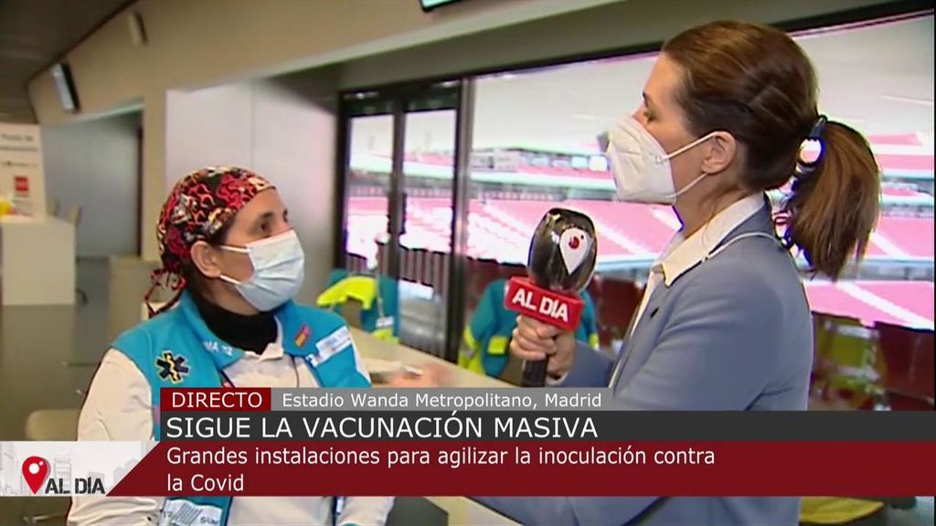 Continúa la vacunación masiva: el Estadio Wanda Metropolitano agiliza la inoculación contra el covid