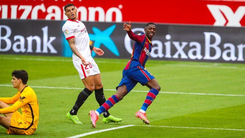 Dembélé y Messi dan la victoria al Barça ante el Sevilla (0-2)