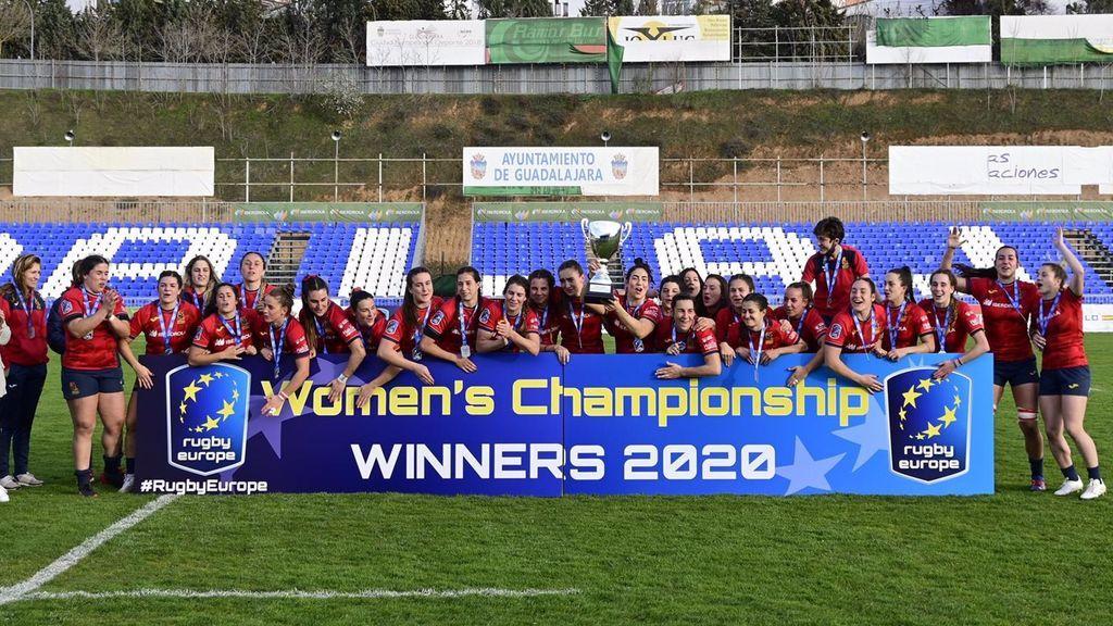 La selección española femenina de rugby, campeona de Europa tras aplastar a Países Bajos