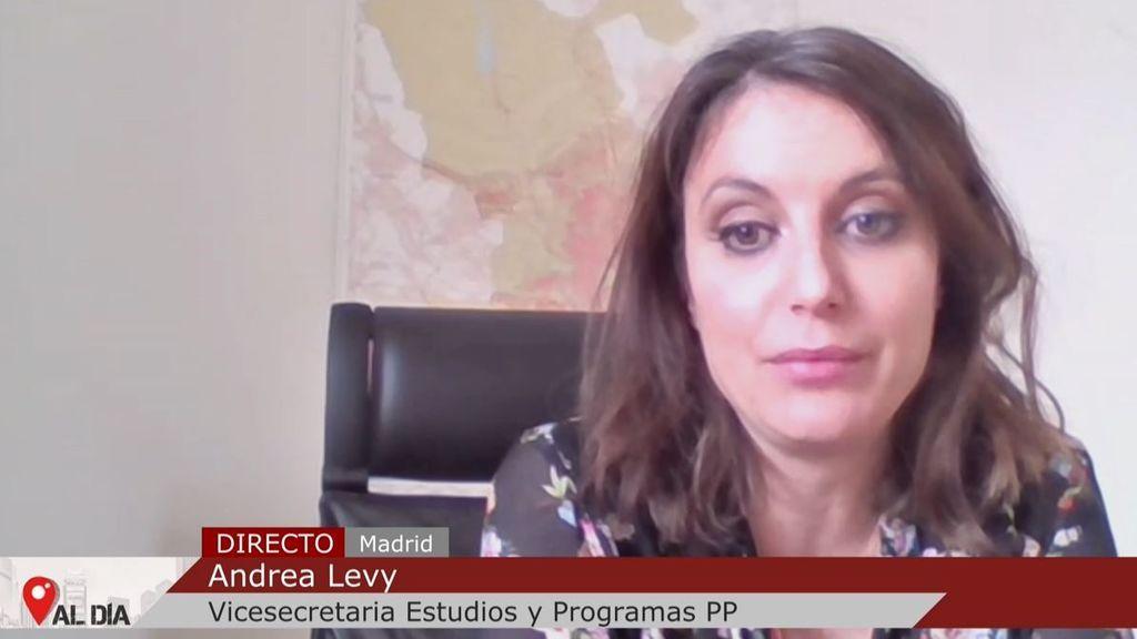 """Andrea Levy: """"Las redes sociales no pueden ser una barra libre de insultos"""""""