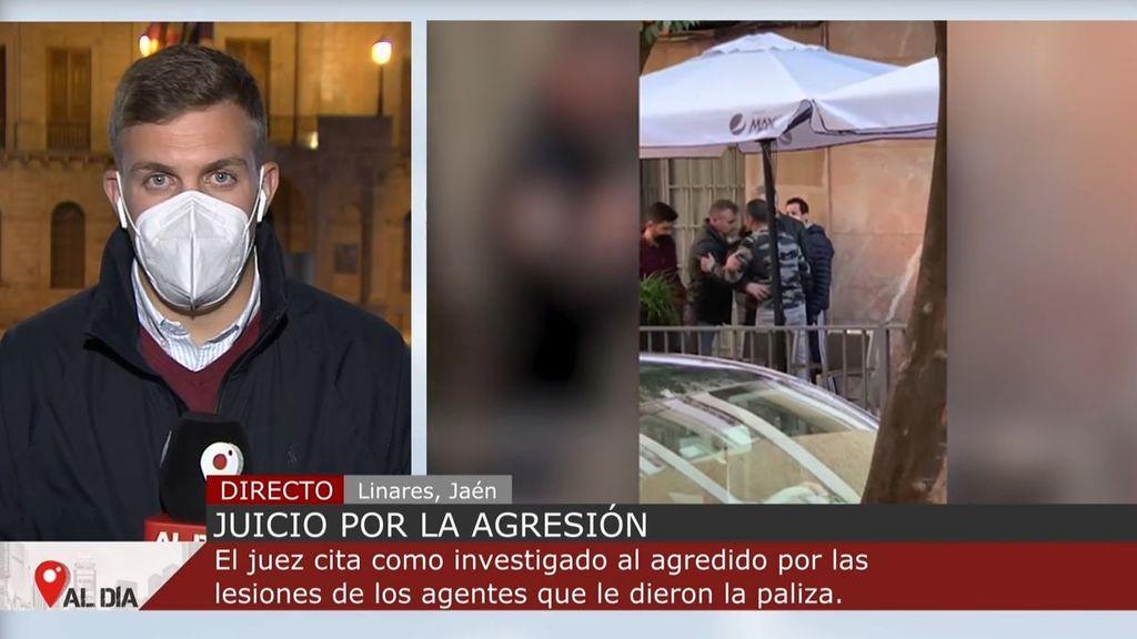 Altercados en Linares en la concentración por la imputación del hombre agredido por dos policías