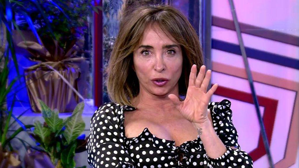 María Patiño recibe un mensaje en directo del Señor Sánchez