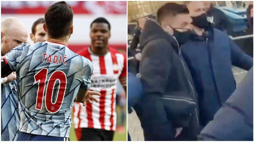 """Varios ultras del PSV agreden a Tadic tras el partido ante el Ajax: """"Me llamó cobarde"""""""