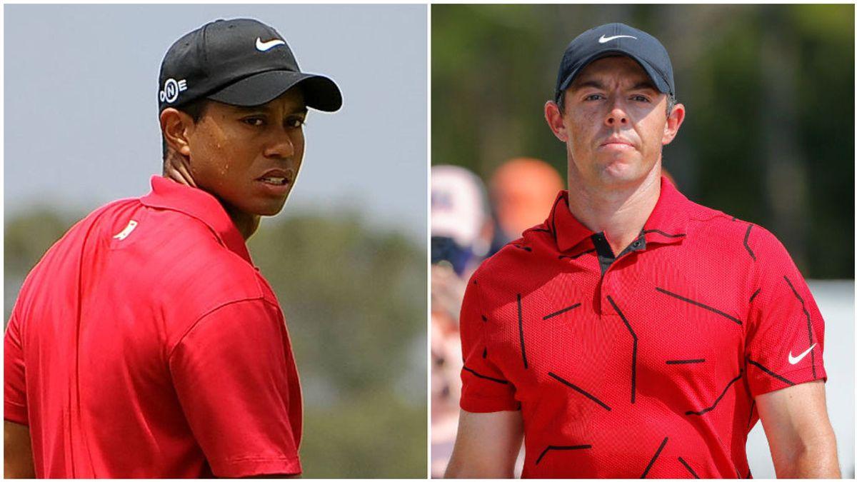 Rory McIlroy vistió de rojo en homenaje a Tiger.