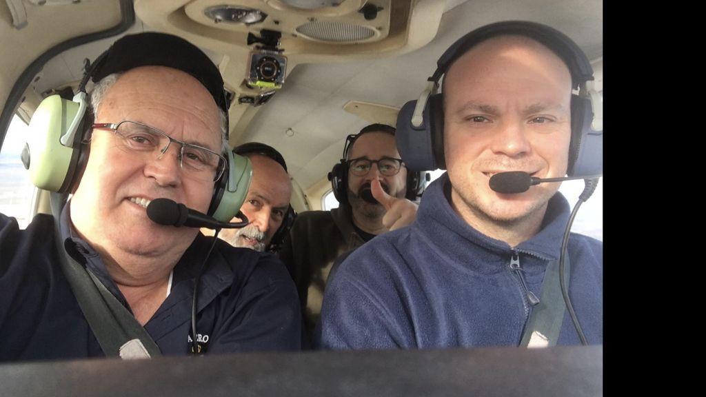 Dentro de la avioneta