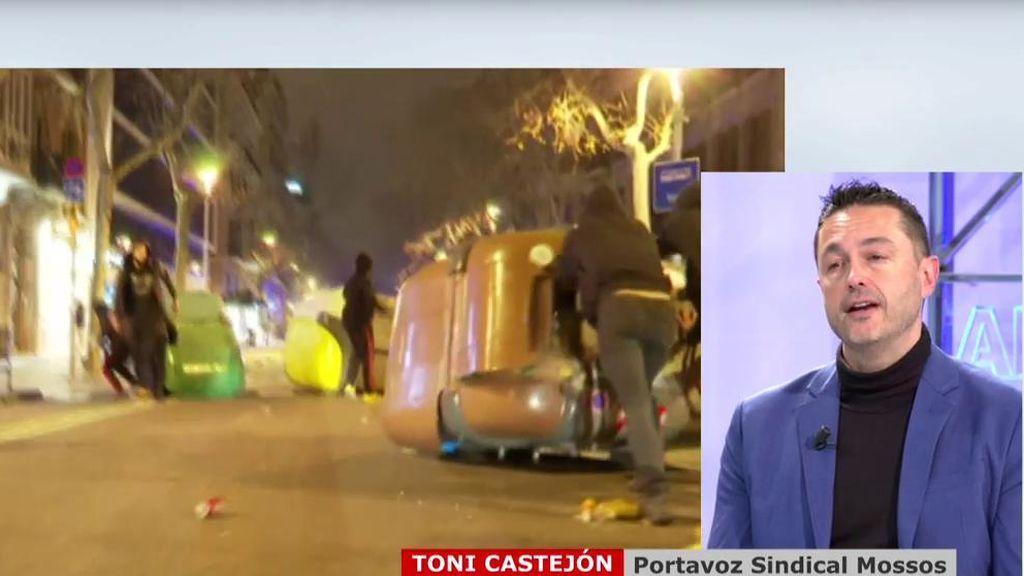Toni Castejón opina del furgón quemado en Barcelona