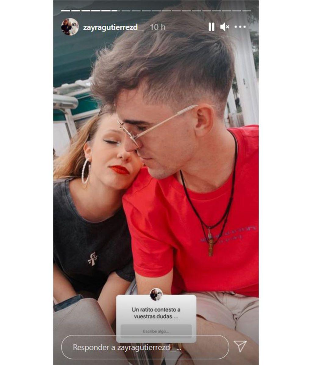 Zayra Gutiérrez presenta públicamente a su novio