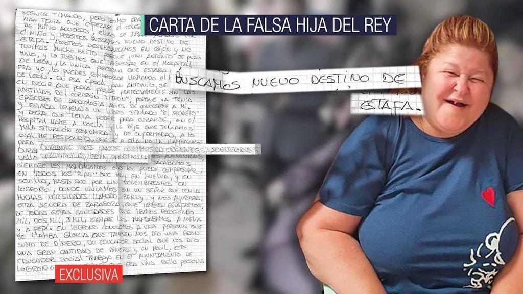 La carta de la falsa hija del rey emérito a Ana Rosa