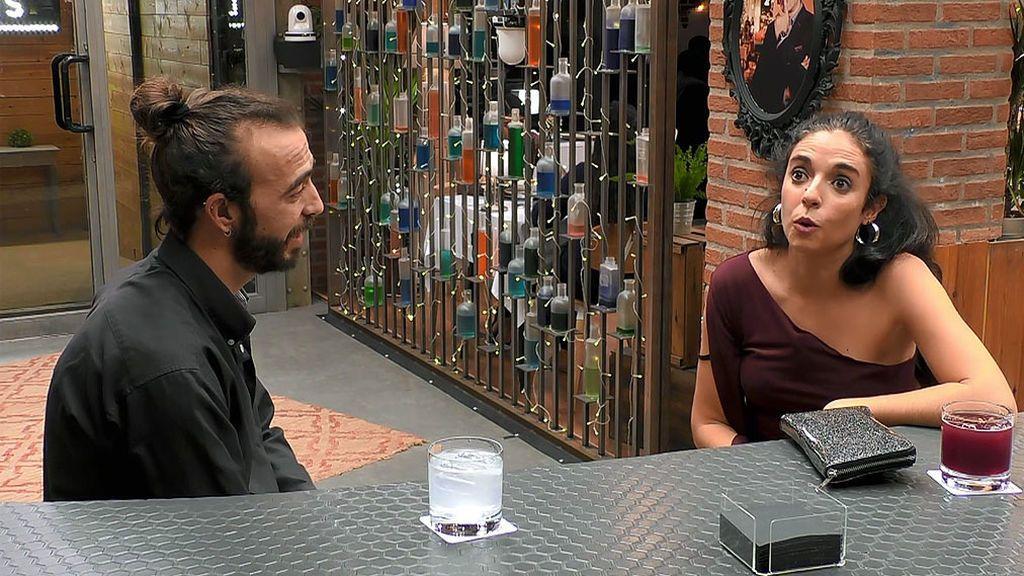 Imagen de Elena e Iván en el programa 'First Dates'