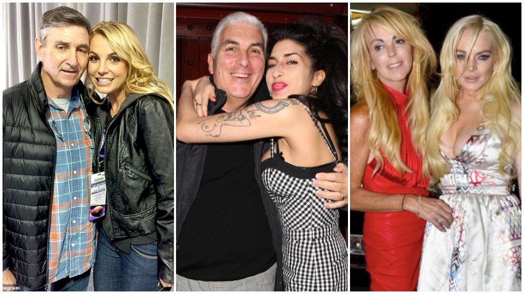 El caso de Britney Spears, el de Amy Winehouse y Lindsay Lohan y otros padres que han manejado la vida de sus hijos famosos.