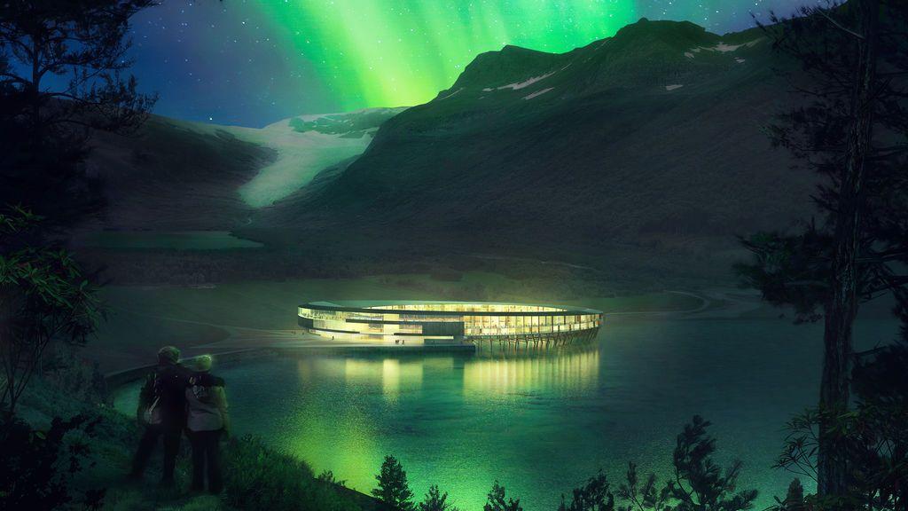 Sostenible y con vistas a un glaciar ártico: así será el ambicioso hotel que se abrirá en Noruega en 2022