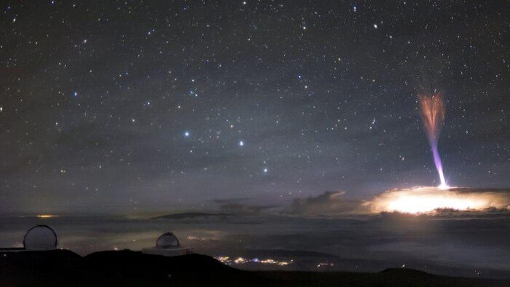 Sprite rojo y chorro azul en el cielo de Hawái: ¿cómo se han formado estos fenómenos?