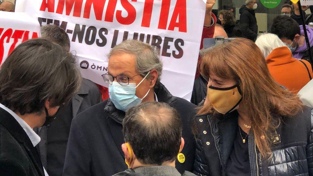 Torra pide al Gobierno la amnistía y que frene la represión