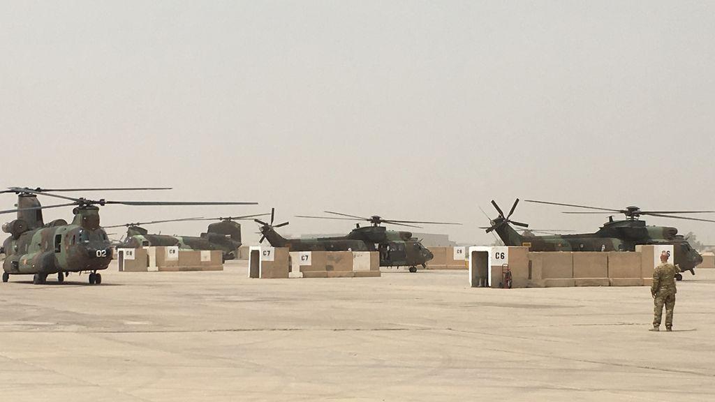 Los 70 militares españoles desplegados en Irak salen ilesos tras un ataque con misiles a su base