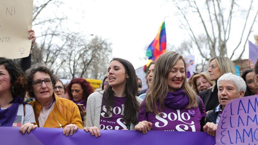 """Irene Montero confirma que """"no asistirá a las manifestaciones del 8M"""" aunque cumplan las medidas sanitarias"""