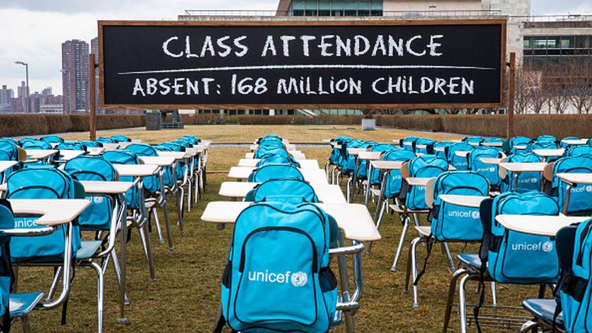 168 millones de niños del mundo llevan casi un año con sus colegios completamente cerrados según UNICEF