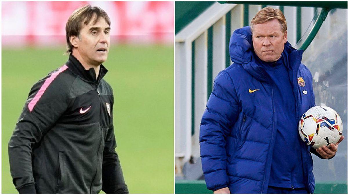 Barça-Sevilla: Las posibles alineaciones y las dudas de Koeman y Lopetegui con Pedri y Ocampos