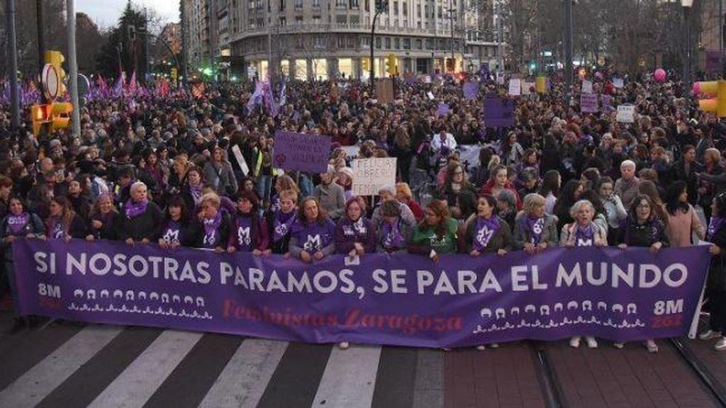 Grito feminista en un  8M alternativo a pesar de la pandemia