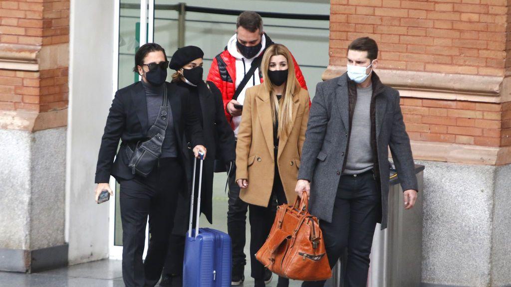 David Bustamante, Chenoa, Natalia y Manu Tenorio viajan a Barcelona para despedir a Álex Casademunt