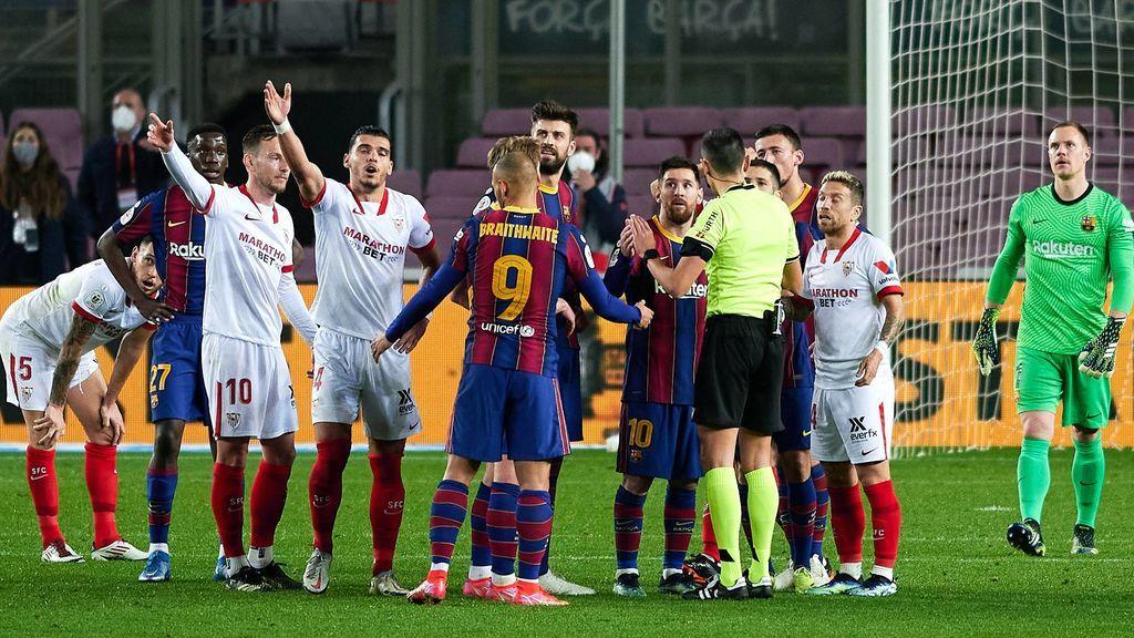 """Rakitic, uno de los más críticos con el arbitraje del Barça-Sevilla: """"Nos han quitado esa final"""""""