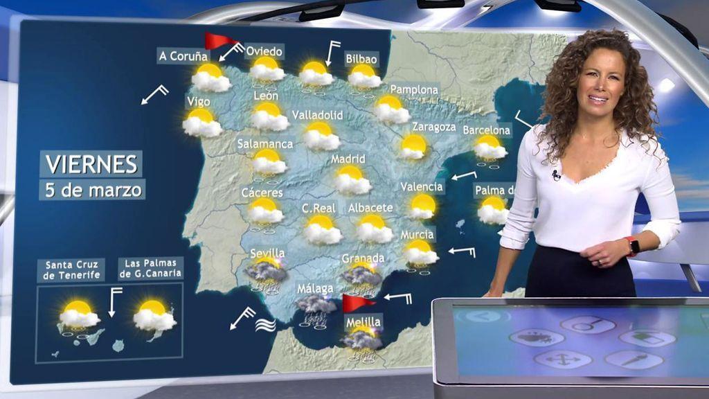 Se avecinan lluvias fuertes al sur de España por una borrasca