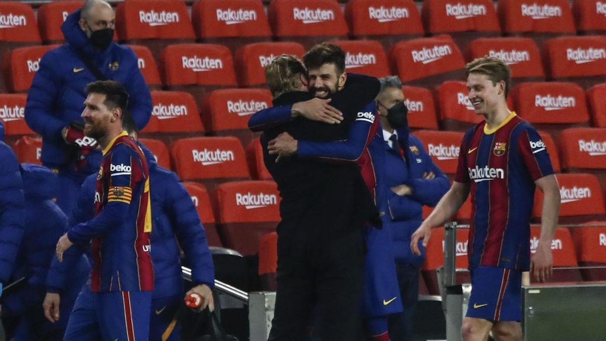 Los jugadores del Barcelona confían en Koeman.