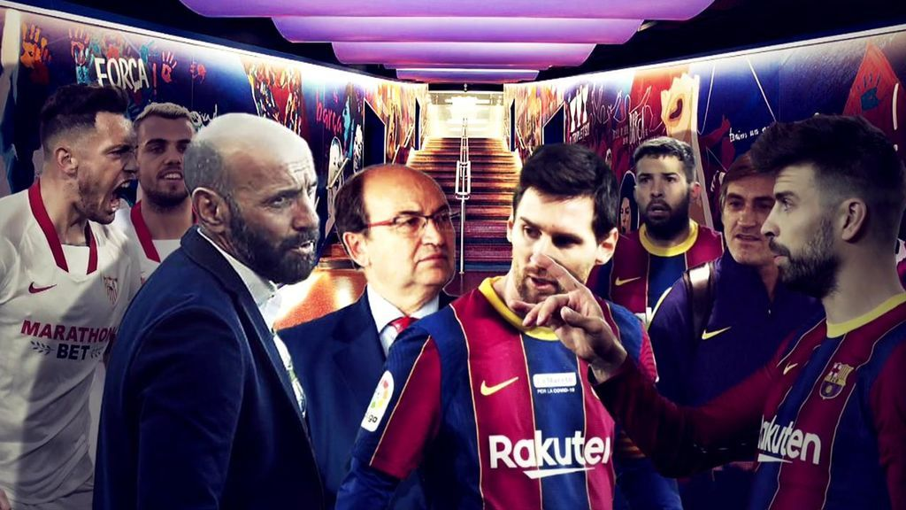 Messi y Monchi, protagonistas del Barcelona-Sevilla
