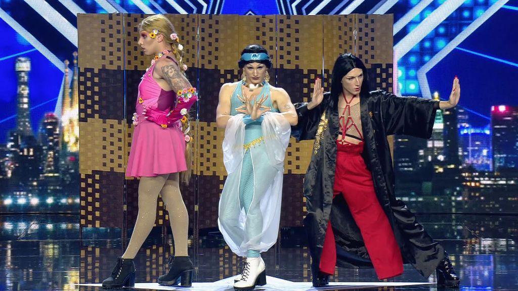 Tres princesas con un talento oculto para el baile