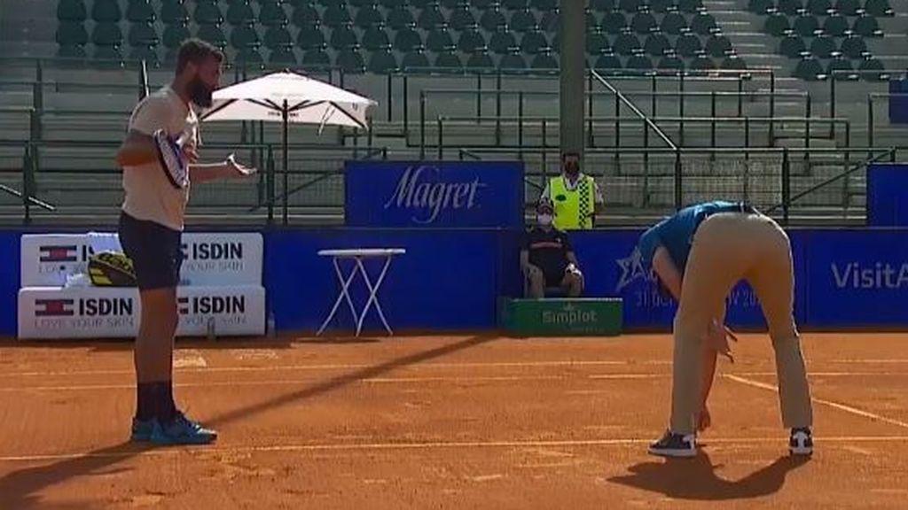 Paire tuvo una actitud lamentable en el torneo de Buenos Aires.