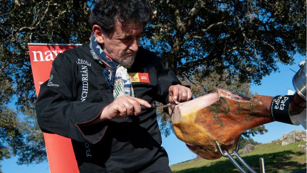 Florencio Sanchidrián, el mejor cortador de jamones del mundo
