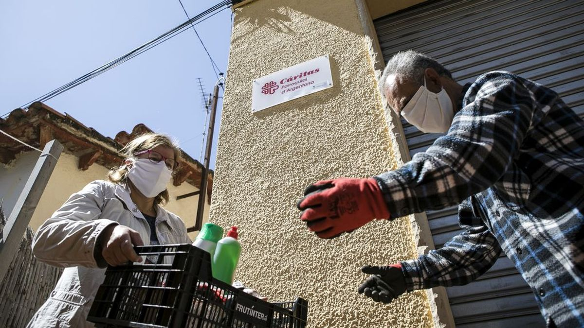 Cáritas estima que un tercio de las personas que acuden a sus instalaciones no lo hacía antes de la pandemia