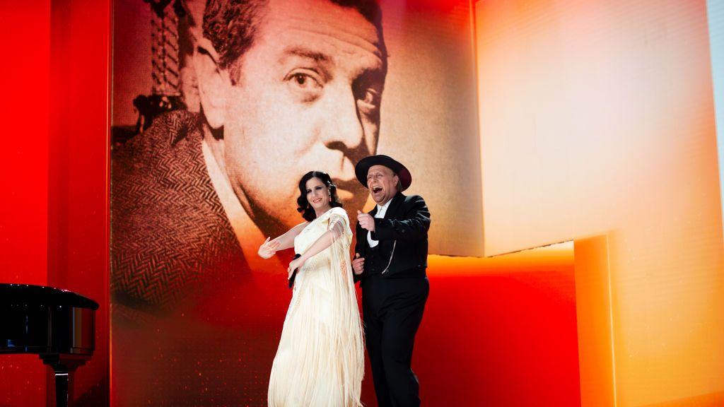 Diana Navarro y Carlos Latre en los Premios Goya 2021