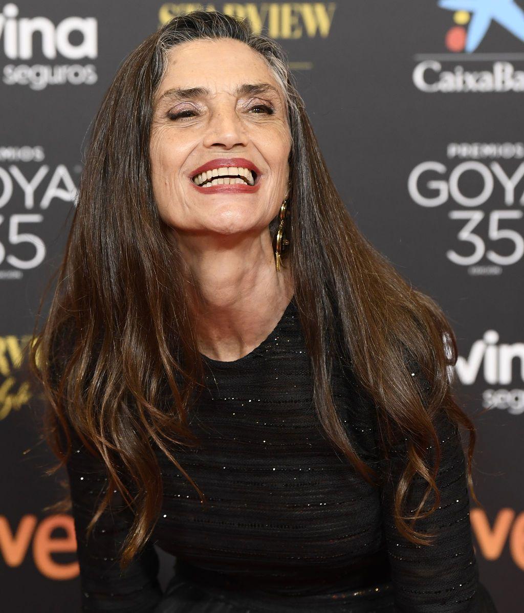 Alejandra Molina en la alfombra roja de los Premios Goya 2021