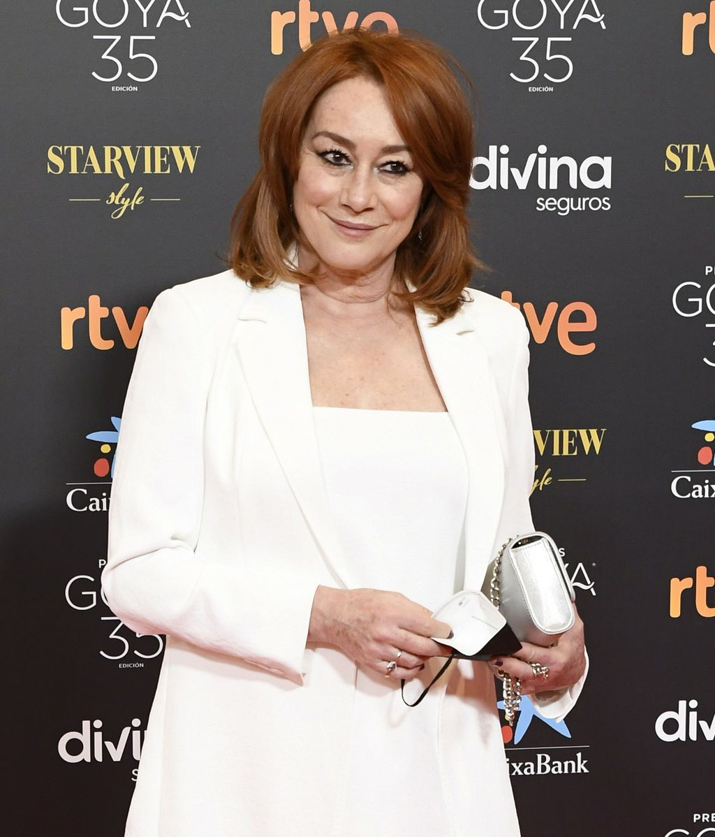 Gracia Querejeta en la alfombra roja de los Premios Goya 2021