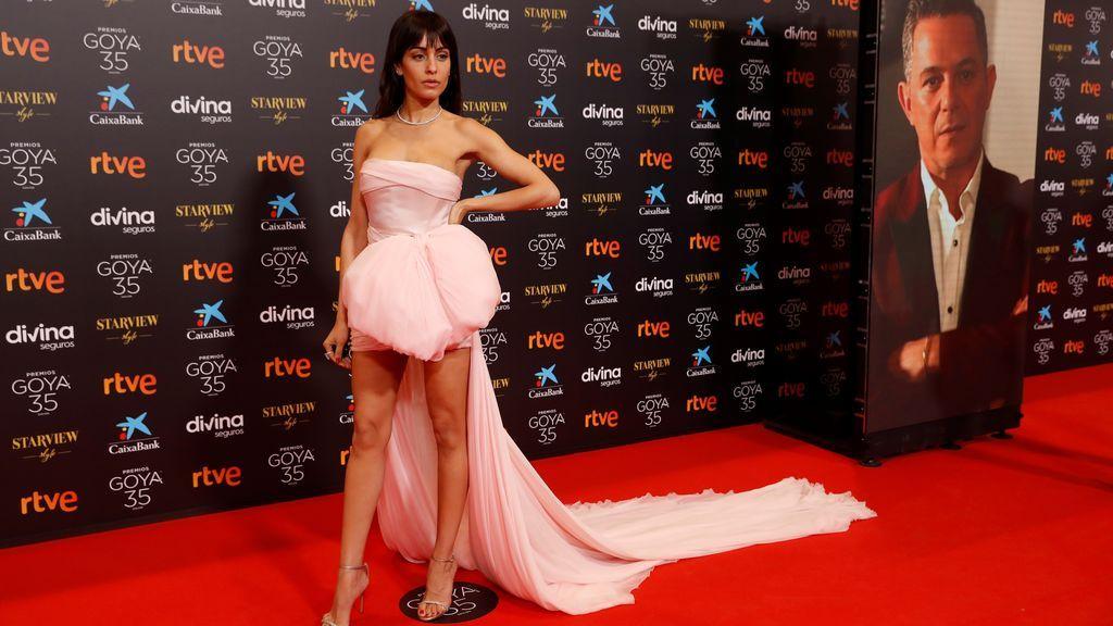 Hiba Abouk en la alfombra roja de los Premios Goya 2021