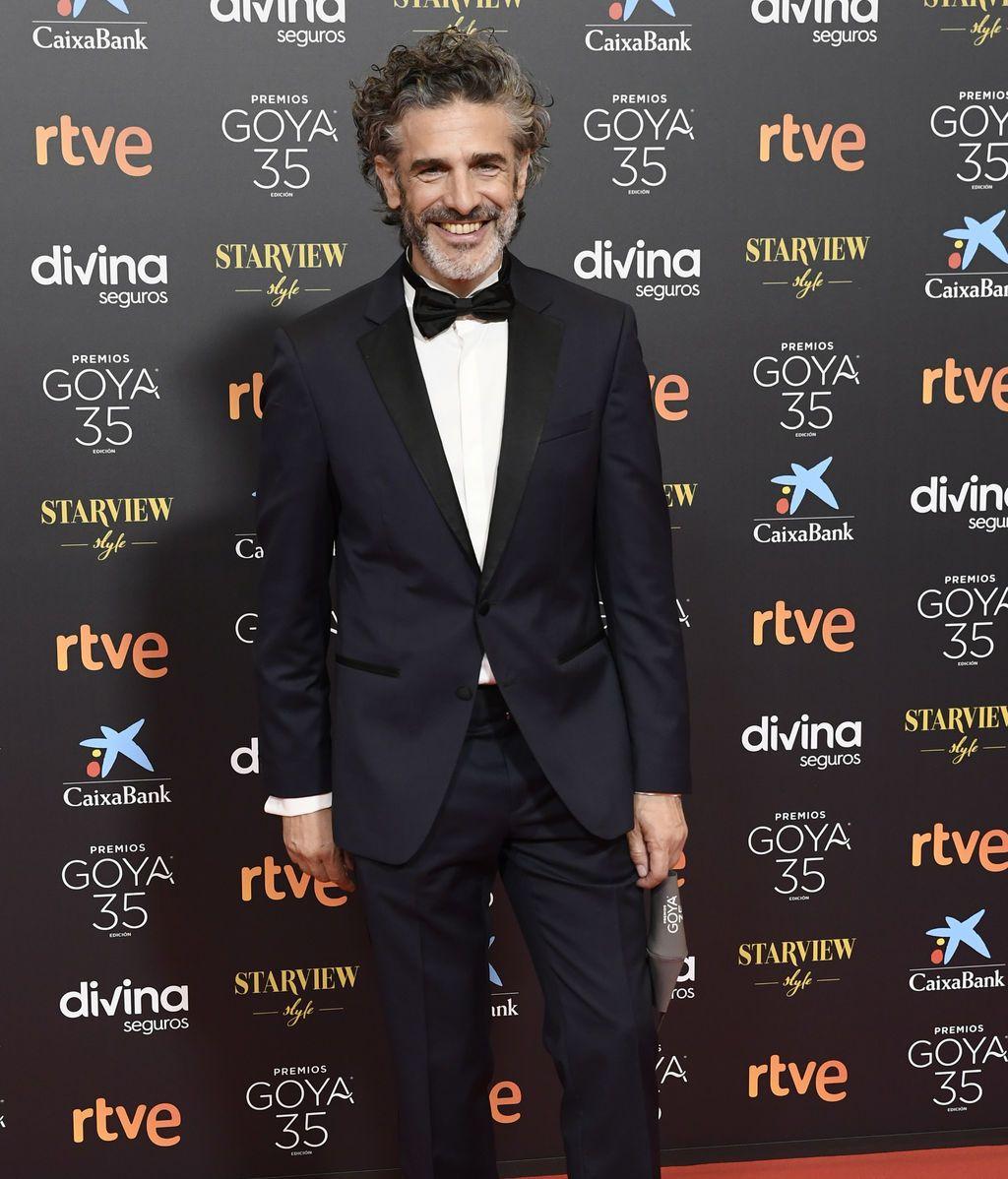 Leonardo Sbaraglia en la alfombra roja de los Premios Goya 2021