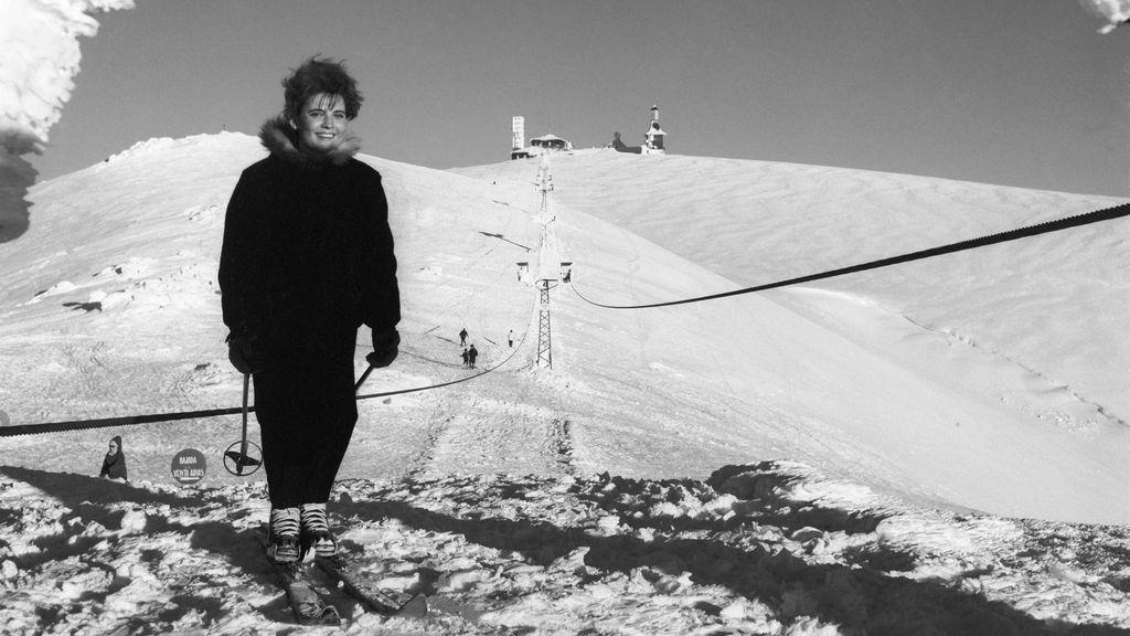 Imagen de archivo de la estación de esquí de Navacerrada en 1963