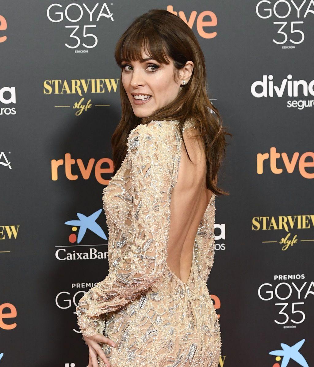Maggie Civantos en la alfombra roja de los Premios Goya 2021