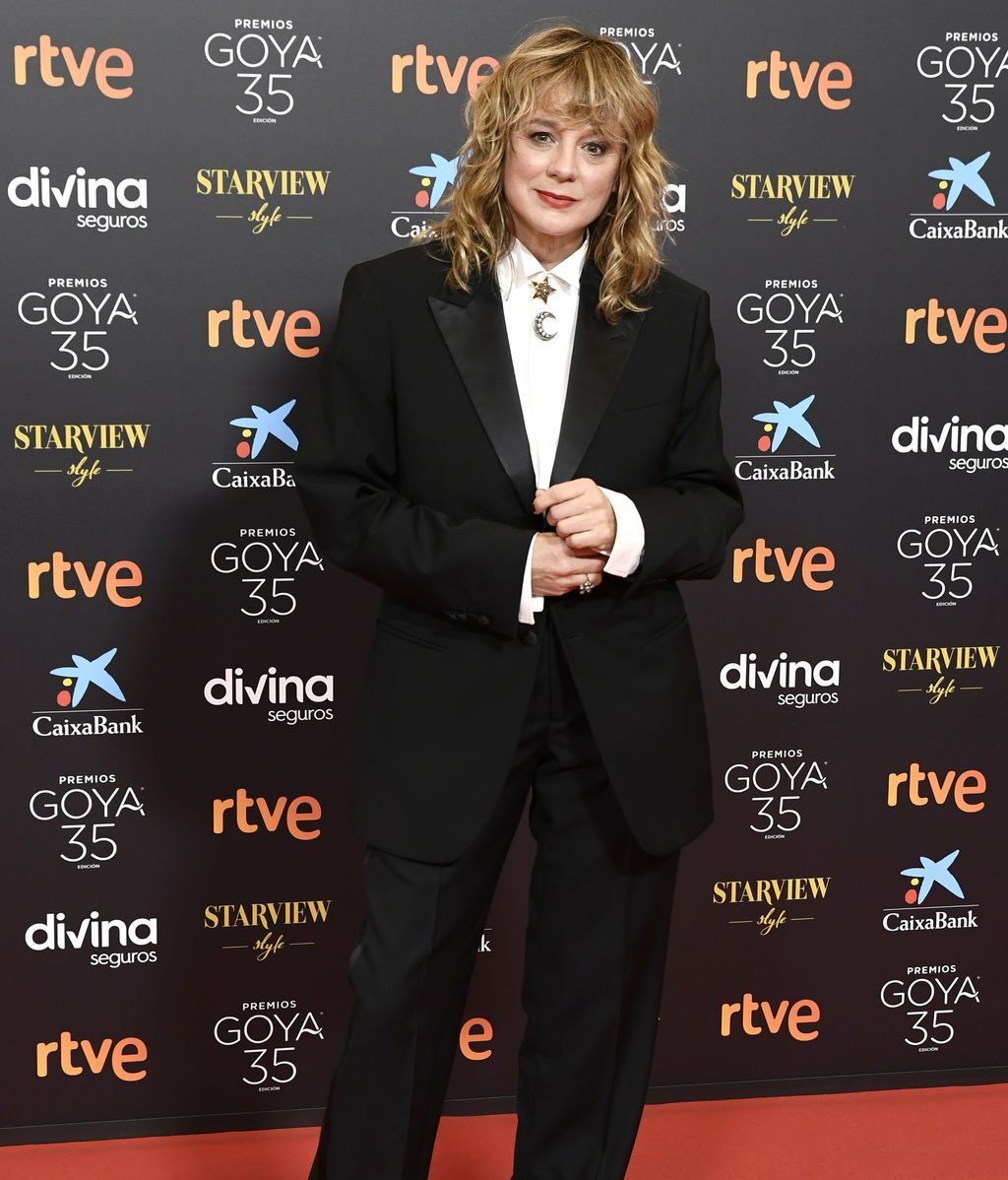 Emma Suárez en la alfombra roja de los Premios Goya 2021